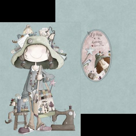 Carpeta Ofelia y la costura A4
