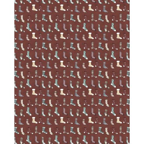 Tela Calcetines colección Una Navidad de Abrazos (Tablilla de 5 metros)