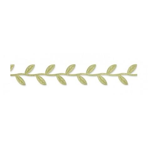 Cuerda trenzada hojas crema-verde