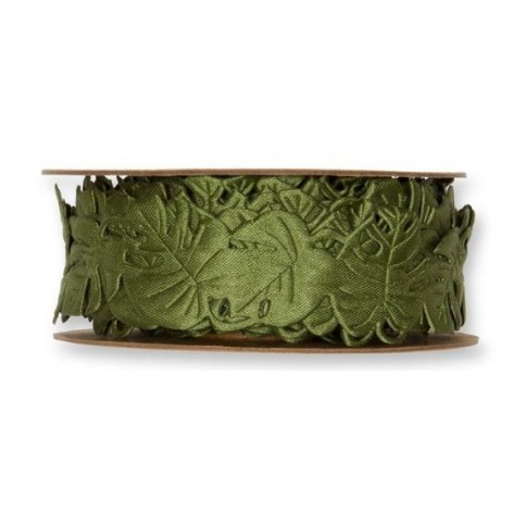 Cinta hojas perforadas oliva