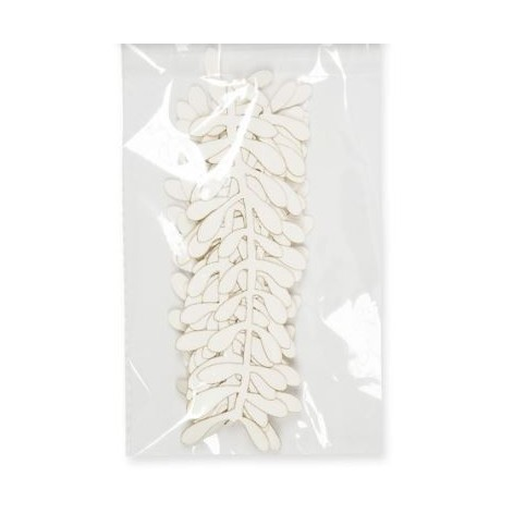 Guirnalda de papel hojas blanco